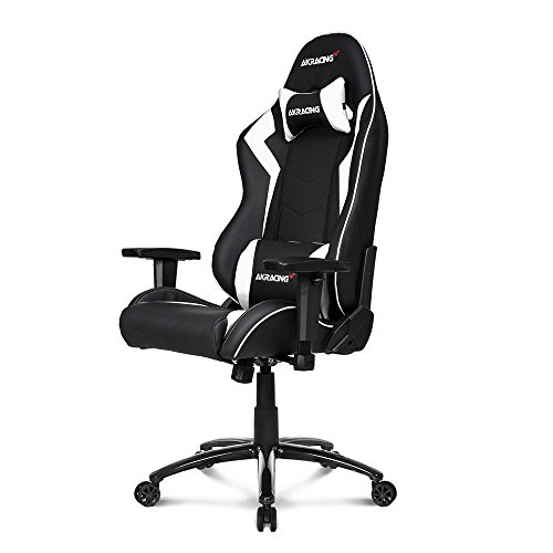 AKRacing Core Series SX Gaming Chair with High Backrest, Recliner, Swivel, Tilt, Rocker and Seat Height Adjustment Mechanisms with 5/10 warranty - White AKRacing