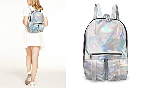 dd74c056c Image Unavailable. Image not available for. Color: Hologram Laser Backpack  Women Girl Laptop Bag College School ...