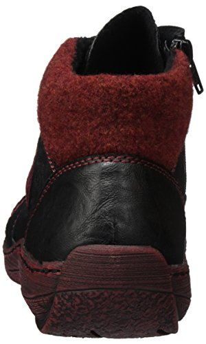 D3871 Remonte Noir Wine Bordeaux 02 Hautes Schwarz Schwarz Sneakers Femme FwdqxAd
