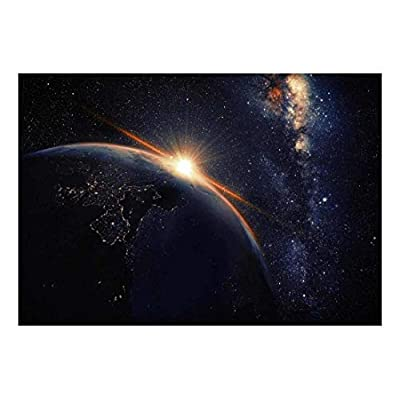 Wonderful Object of Art, Earth with Lights from Outer Space Wall Mural, Professional Creation