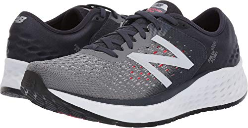 New Balance Men's 1080v9 Fresh Foam Running Shoe, Gunmetal/Outerspace/Energy red, 12 XW US