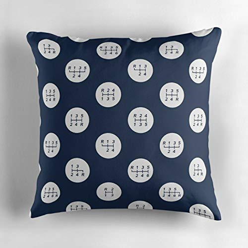 Uwwrticm Manual Transmission Shift Patterns Throw Pillow Cover Decorative Pillowcase for Home Sofa Bedding Couch Cotton Pillow Cover 18x18 Inch/45cm X 45cm