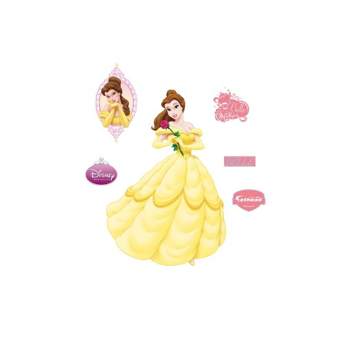 Fathead Disney Princesses: Belle Wall - Warehouse Disney Anaheim