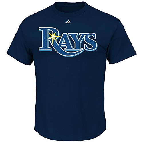 Evan Longoria Tampa Bay Rays Navy Name and Number T-Shirt by Majestic Size: Large