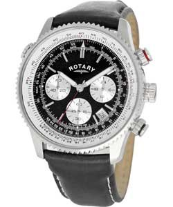 rotary men s black strap chronograph watch amazon co uk watches rotary men s black strap chronograph watch