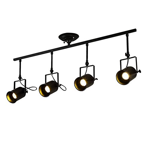 Motent Vintage Industrial 4 Way Spotlight Pendant Light 3.3