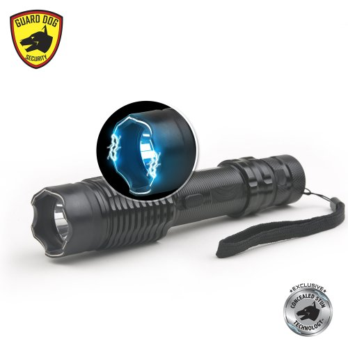 Guard-Dog-Security-Escort-300-Lumen-Tactical-Flashlight-with-Maximum-Voltage-Stun-Gun-in-Metal-Body