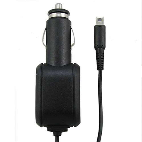 Everydaysource Black Car Charger Compatible with Nintendo 2DS 3DS XL