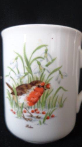 Vintage Bird Coffee Cup Crown Trent Tea Cup Staffordshire England Bird Coffee Cup