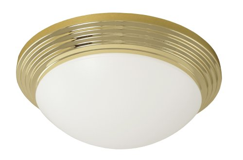 Good Earth Lighting Adiamo 14-inch Direct Wire Flush Mount Light, Brass Review