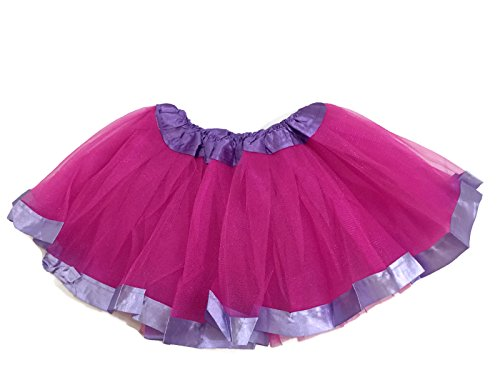 Purple Pink And Tutu (Rush Dance Ballerina Girls Dress-Up Princess Recital Fairy Bow & Ribbon Tutu (Kids (2-6 Years Old), Hot Pink & Purple)