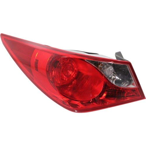 - Tail Light for HYUNDAI SONATA 2011-2014 LH Outer Assembly Bulb Type