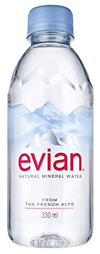 evian Natural Spring Water 330 ml, 24 Count