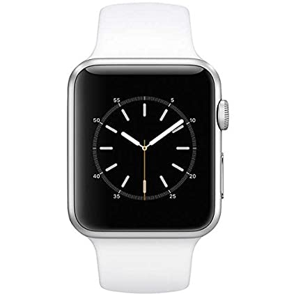 09d766a40 Apple Watch Series 1-42mm Stainless Steel Case with White Sport Band,  MJ3V2MJ3V2