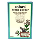 Colora Henna Veg-Hair Apricot Gold 59 ml (3-Pack) with Free Nail File