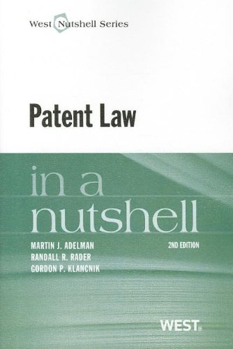Patent Law in a Nutshell (Nutshells)