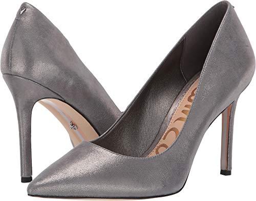 - Sam Edelman Women's Hazel Dark Pewter Metallic Leather Spirit Metallic Leather 9.5 W US