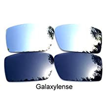 Galaxy Replacement Lenses for Oakley Fuel Cell Black&Titanium Polarized 2Pairs
