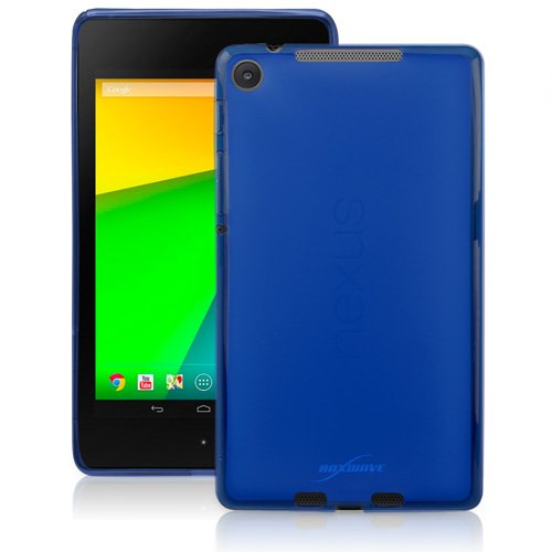 BoxWave Arctic Frost Google Nexus 7 (2nd Gen/2013) Crystal Slip - Colorful Slim Fit Frosted TPU Gel Skin Case for Durable Anti-Slip Protection - Google Nexus 7 (2nd Gen/2013) Cases and Covers (Super Blue)