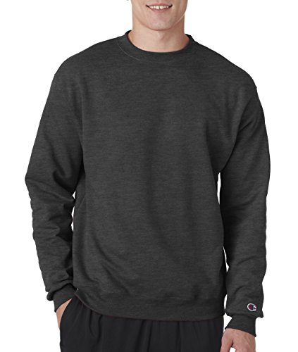(Champion Adult 50/50 Crewneck Sweatshirt, Charcoal Heather - Size Medium)