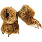 Brown Bear Paw Animal Paw Slippers for Kids and Adults by LazyOne | Fun Fuzzy Costume Footwear (X-Large)