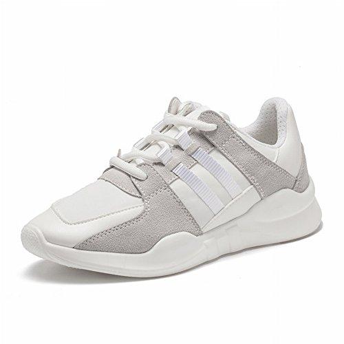 Los Deportes Calzan la Cabeza Redonda Femenina con Los Zapatos Transpirables de Los Zapatos Casuales de Los Estudiantes Del Color Bajo , blanco , EUR34.5