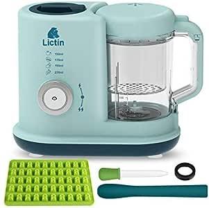 Lictin Robot de Cocina de Bebes, Cocina, tritura, Calienta, descongela y Esteriliza, fácil de usar: Amazon.es: Bebé