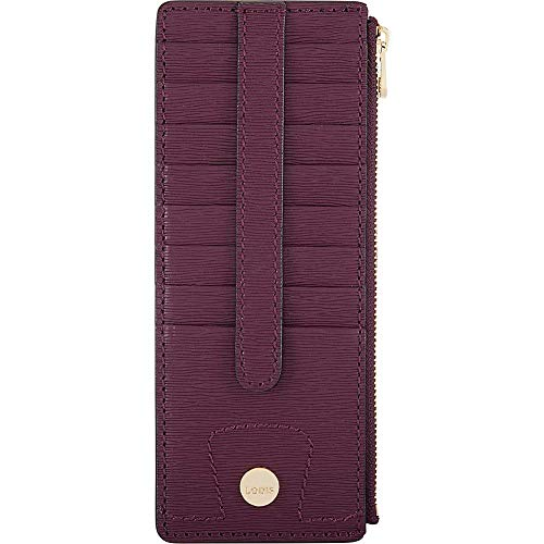 Lodis Bel Air Credit Card Case with Zipper (Plum)