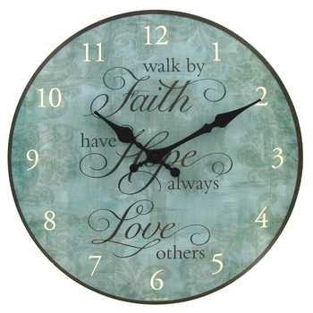 12 faith hope and love wall clock