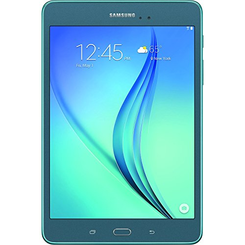 Samsung Galaxy Tab A 8-Inch Tablet (16 GB, Smoky Blue) 16GB Memory Card Bundle includes Tablet, 16GB Micro SD Memory Card, Headphones, Sleeve, 3 Stylus Pens, Lens Cleaning Kit and Micro Fiber Cloth
