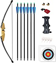 Vogbel Recurve Bow and Arrows for Adults 30lb 40lb Archery Set Right Hand Takedown Bow for Beginner Outdoor Pr