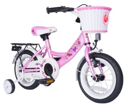 Bikestar 12 Inch (30.5cm) Kids Children Bike Bicycle Classic Pink Fairy Design