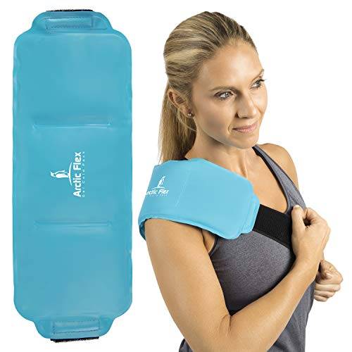 Gel Arctic Ice - Arctic Flex Hot Cold Wrap (Large) - Flexible Gel Ice Therapy Compression Pack - Heat Compress Strap Pad for Back, Neck, Shoulder, Knee, Ankle, Calves and Elbow Muscle Injuries, Pain Relief - Reusable