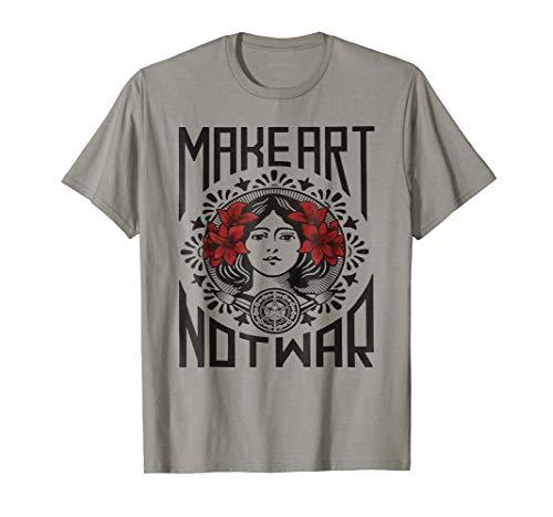 Make art not war T-shirt ()