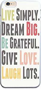 Dseason Iphone 5/5S case, High Quality Unique Design Protector quotes live simply.dream big.be grateful.give love.laugh lots.