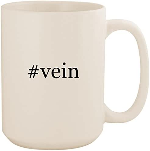 #vein - White Hashtag 15oz Ceramic Coffee Mug Cup