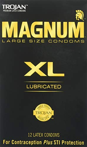 Trojan Magnum Lubricated Latex Condoms - Trojan Magnum XL Size Lubricated Latex Condoms - 12 ct, Pack of 3
