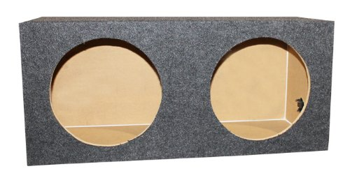 Q-POWER 10″ Dual Sealed Car Audio Subwoofer Sub Box Enclosure | 32 x 14.5 x 12