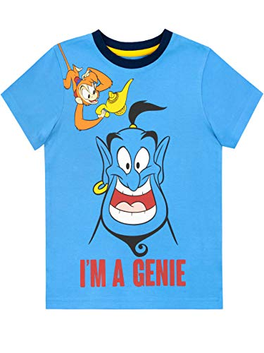 Disney Boys' Aladdin T-Shirt Blue Size 4 ()