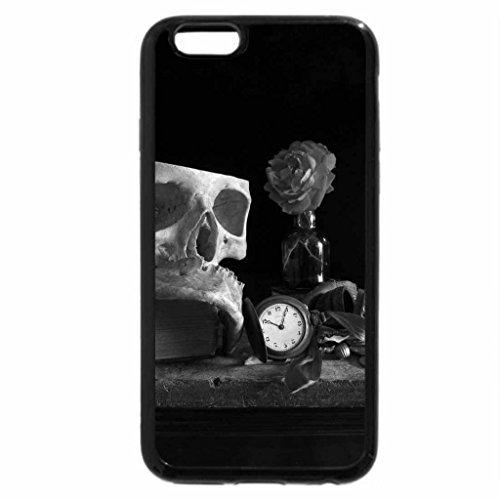 iPhone 6S Plus Case, iPhone 6 Plus Case (Black & White) - Rose and antiques