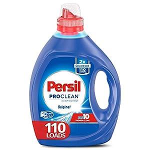 Best Epic Trends 41l8T7JosWL._SS300_ Persil Liquid Laundry Detergent, ProClean Scent, 2X Concentrated, 110 Loads, Blue, 82.5 Fl Oz, Original