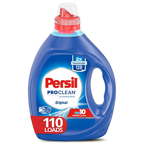 - Persil Liquid Laundry Detergent, ProClean Original Scent, 2X Concentrated, 110 Loads