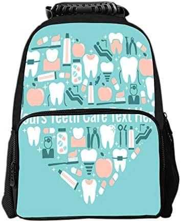 SARA NELL School Backpack Dental Care Heart Symbol Backpack for Kids School Bag Lightweight Student Bookbags for Boys Girls