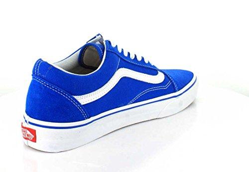 Suede Blue Zapatillas Hombre Cuero Vans de Canvas qxFnaXn