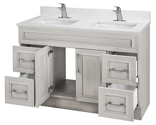 Cutler Kitchen & Bath CCMCTR48DBT Classic Transitional 48 in. Double Bathroom Vanity, Meadows Cove - Includes cabinet Choose from available finishes Wood construction - bathroom-vanities, bathroom-fixtures-hardware, bathroom - 41l8TUgZ3zL -