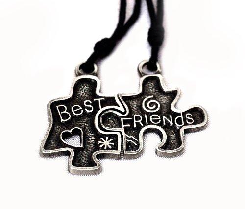 Best Friends Puzzle Yin Yang Charm Pewte