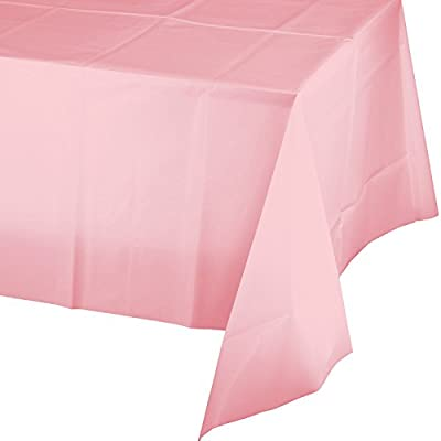 Creative Converting Touch of Color Plastic Table Cover, 54 by 108-Inch, Classic Pink by Creative Converting
