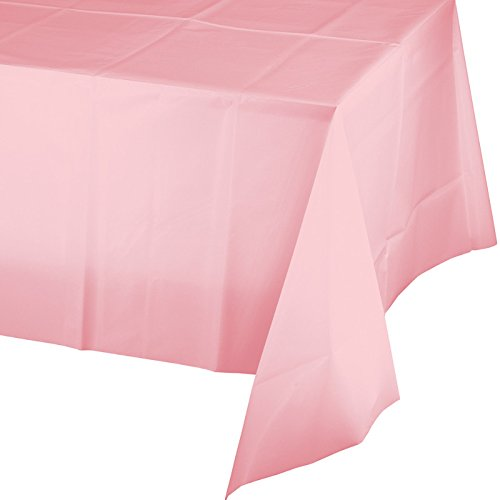 [Creative Converting Touch of Color Plastic Table Cover, 54 by 108-Inch, Classic Pink] (Pink Table Cover)