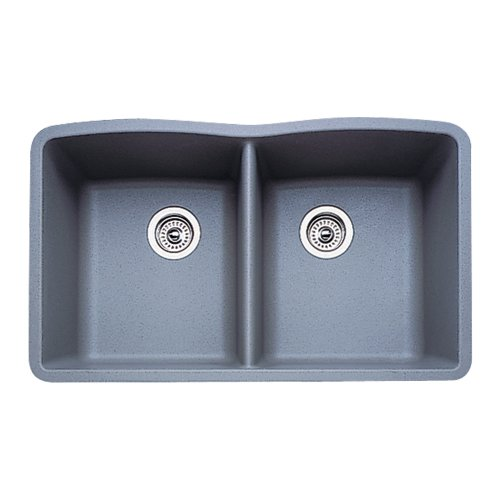 Diamond Equal Double Bowl - Blanco 511-703 Diamond Equal Double Bowl Kitchen Sink, Metallic Gray Finish