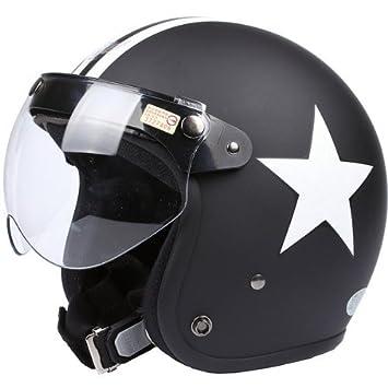 Casco de Moto, Travellor casco con gafas Retro Vintage Evo casco deportes calle bicicleta Cruiser
